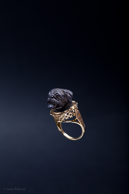 ring, 2011 : patinated silver, gold