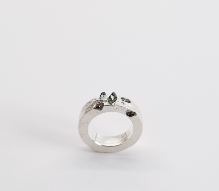 ring : silver, synthetic spinel - 2014