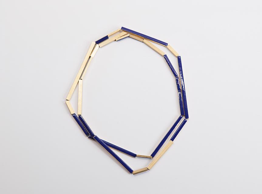 necklace : vermeil, enamel - 2014