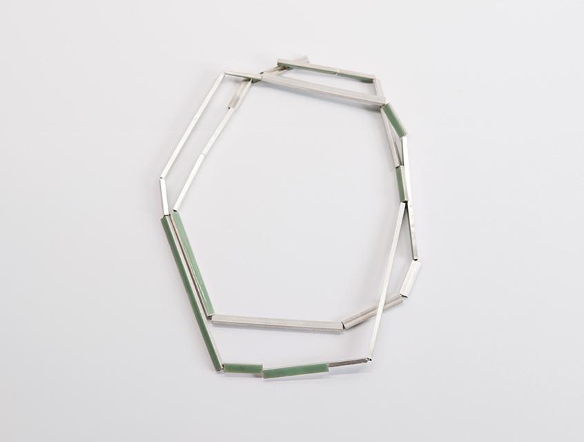 necklace, 2014 : silver, enamel