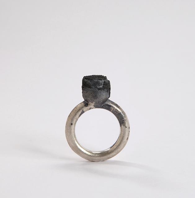 ring : silver, niello - 2014