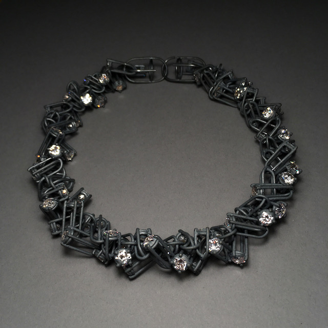 necklace : oxidized silver, cubic zirconium - 2020