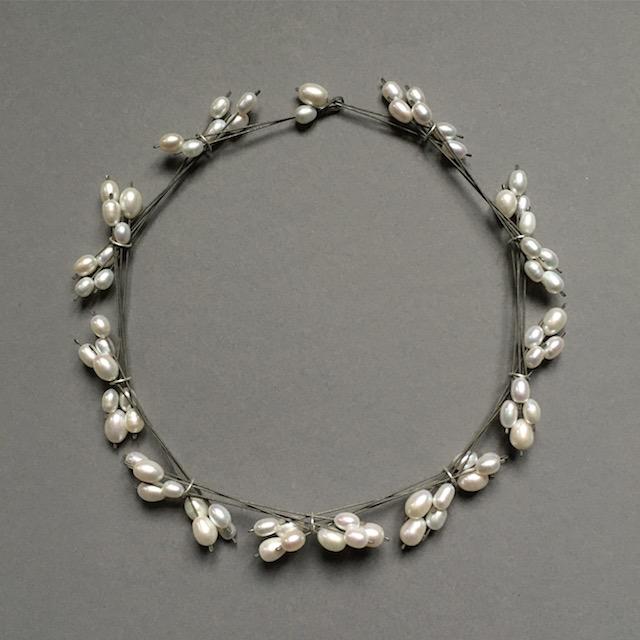 necklace : titanium, silver, pearl - 2020