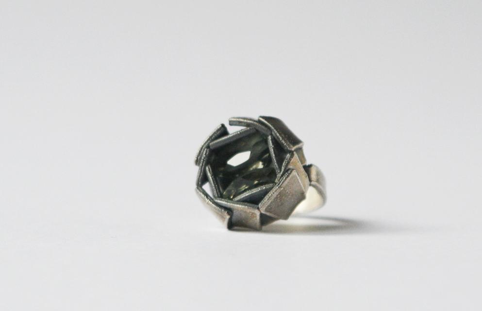 ring : silver, prasiolite - 2020