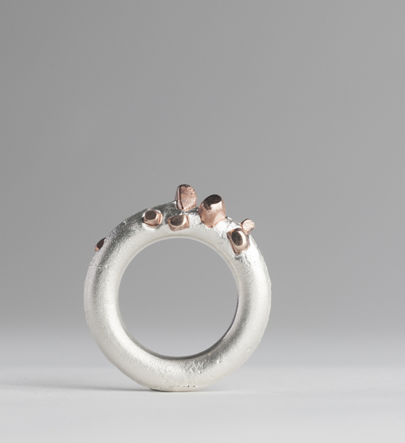 ring : silver, red gold - 2017