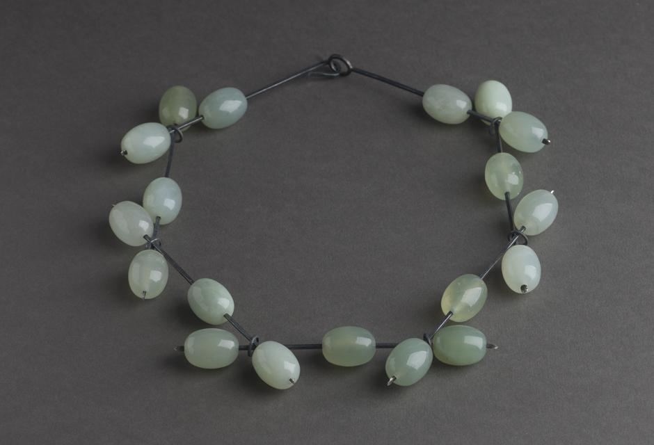 necklace : silver, amazonite - 2017