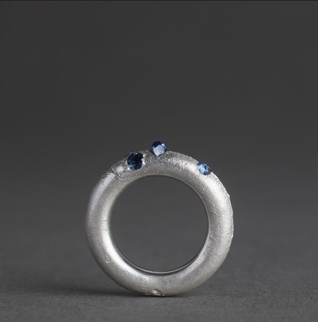 ring : silver, blue sapphir - 2017