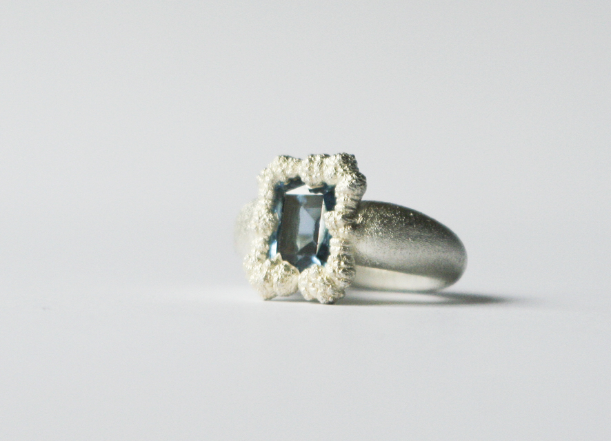 ring : silver, copper, synthetic spinel - 2020