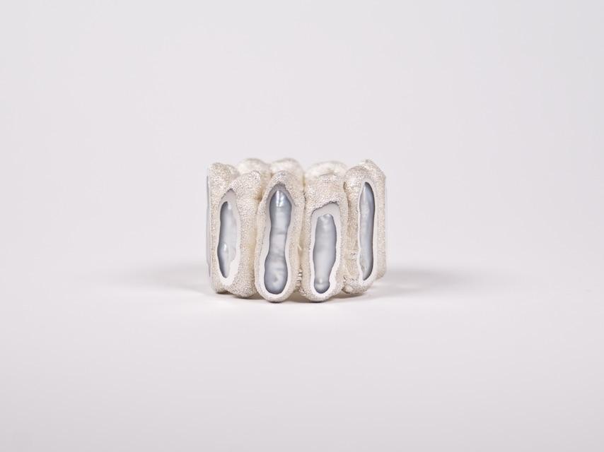 ring : silver, copper, pearl - 2020