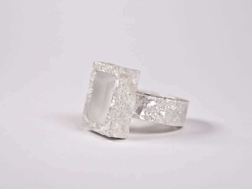 ring : crystallized fine silver, rock crystal - 2020